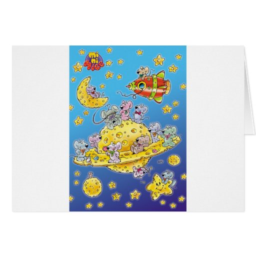 Mini Mice Lost in Space Greeting Cards
