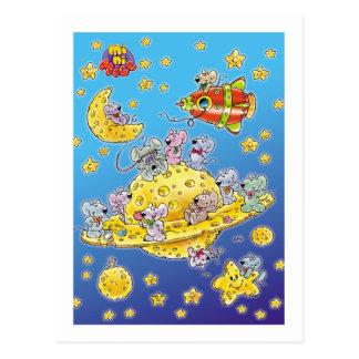Mini Mice Lost in Space Postcard