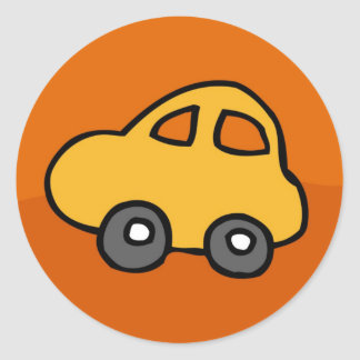 Mini Mini Car Round Sticker