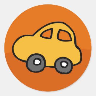 Mini Mini Car Round Sticker