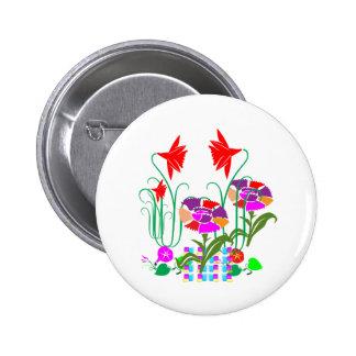Mini Mini Garden:  Bunch of Flower Arrangement 6 Cm Round Badge