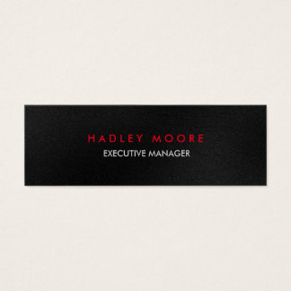 Mini modern grey red professional trendy plain mini business card