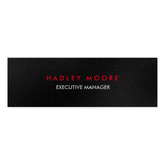 Mini modern grey red professional trendy plain pack of skinny business cards