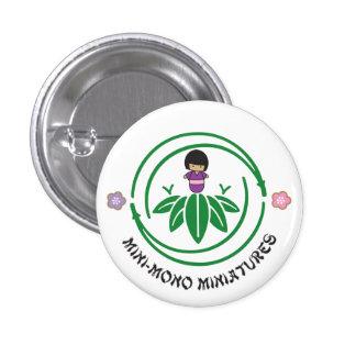 Mini-Mono Girl Logo 3 Cm Round Badge