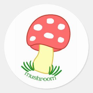 Mini Mushroom Sticker