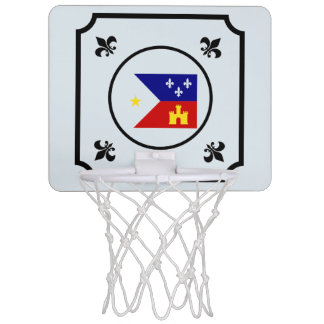 Mini Office Basketball Hoop With Cajun Flag