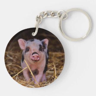 mini pig key ring