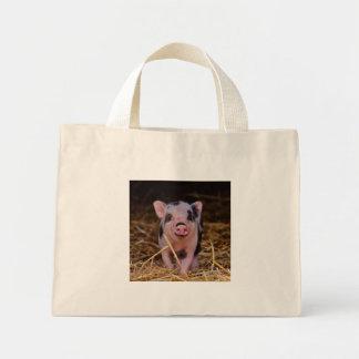 mini pig mini tote bag