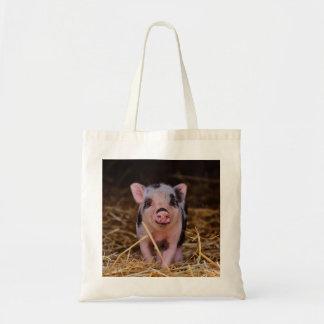 mini pig tote bag