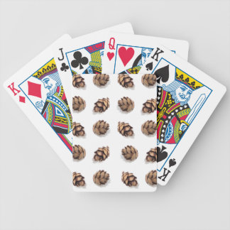 Mini Pine Cones on White Bicycle Playing Cards