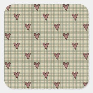 Mini Pink Hearts Valentine's Day Stickers
