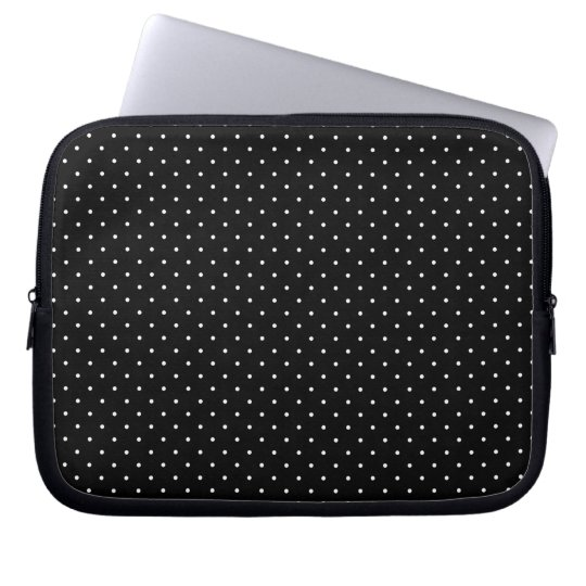 Mini Polka Dots in Black and White Customise it Laptop Sleeve
