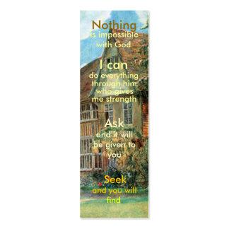 Mini prayer bookmark business card templates
