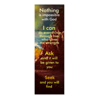 Mini prayer bookmark business card template