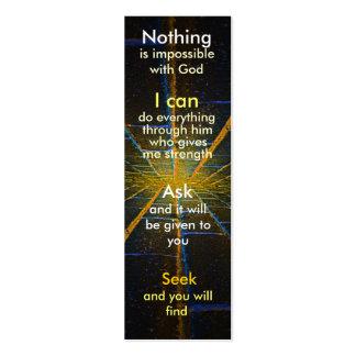 Mini prayer bookmark business card