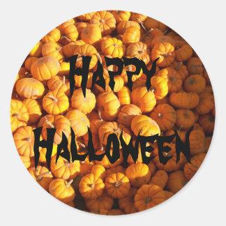 Mini Pumpkins Round Sticker