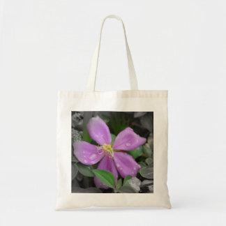 Mini Purple Flower Tote Bag