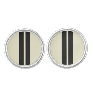 Mini Racing Stripes on ANY COLOR Background Cufflinks