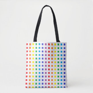 Mini Rainbow Squares Tote Bag