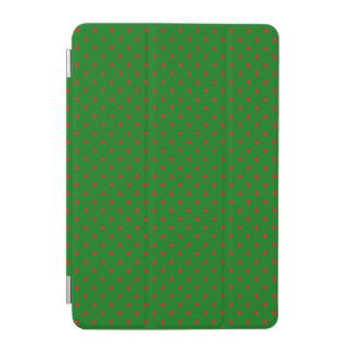 Mini Red Dots on Christmas Green iPad Mini Cover
