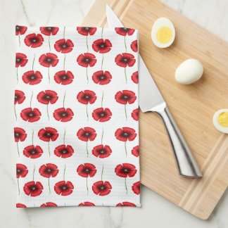 Mini Red Poppies Kitchen Towels