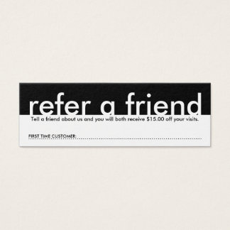 mini refer a friend mini business card
