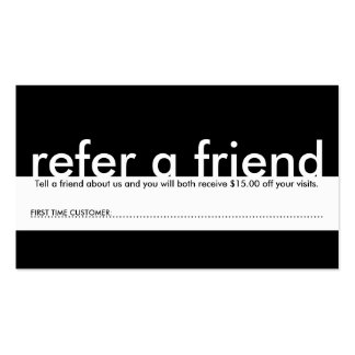 mini refer a friend pack of standard business cards