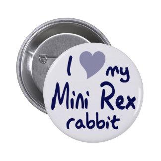 Mini Rex rabbit 6 Cm Round Badge