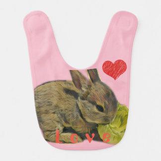 Mini Rex Rabbit Baby Bib