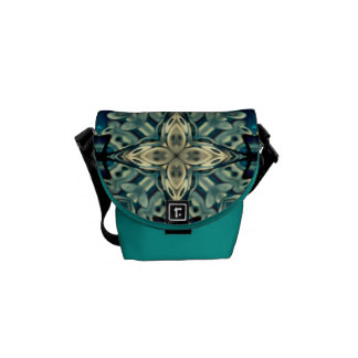 Mini Rickshaw Bag with Moroccan design Courier Bag