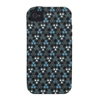 Mini sakura black white blue floral 4S iPhone 4/4S Covers