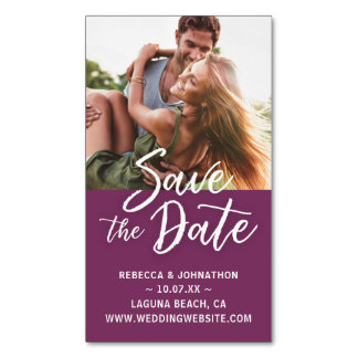 Mini Save the Date Magnets Cheap | Burgundy