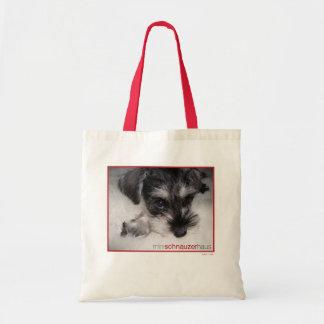 Mini Schnauer Pup Tote Bag