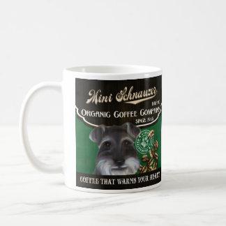 Mini Schnauzer Brand – Organic Coffee Company Basic White Mug