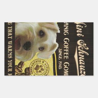 Mini Schnauzer Brand – Organic Coffee Company Sticker