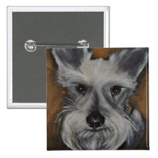 Mini Schnauzer Design No.2 15 Cm Square Badge