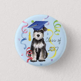 Mini Schnauzer Graduate 3 Cm Round Badge