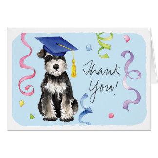 Mini Schnauzer Graduate Card