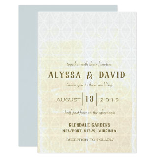 Mini Sized Distressed White Triangles Invitation