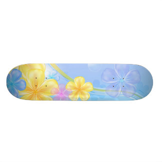 Mini Skateboard-Floral Custom Skate Board