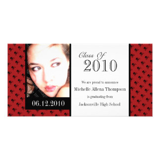 Mini Skulls Graduation Announcement Photo Cards