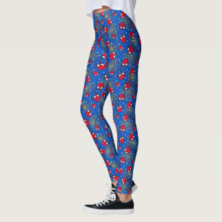 Mini Spider-Man and Web Pattern Leggings