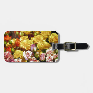 Mini Spray Roses Luggage Tag