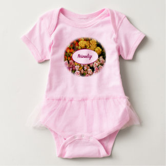 Mini Spray Roses ready to be Personalized Baby Bodysuit
