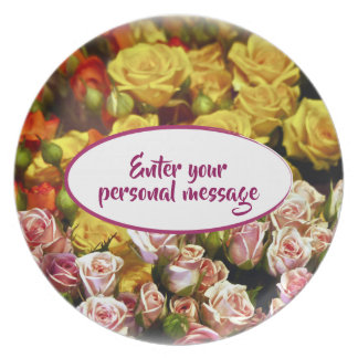 Mini Spray Roses ready to be Personalized Plate