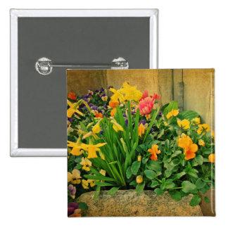 Mini Springtime Garden 15 Cm Square Badge