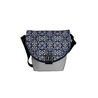 Mini stock market design tile Portuguese Commuter Bags