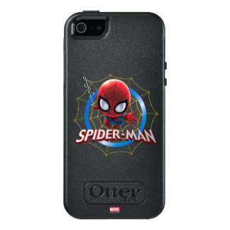 Mini Stylized Spider-Man in Web OtterBox iPhone 5/5s/SE Case