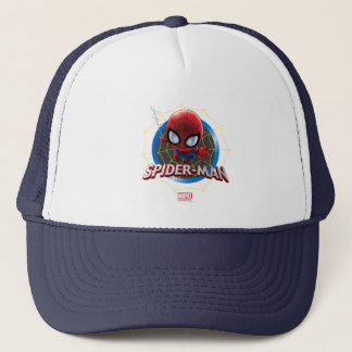 Mini Stylized Spider-Man in Web Trucker Hat