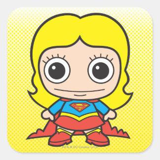 Mini Supergirl Square Sticker